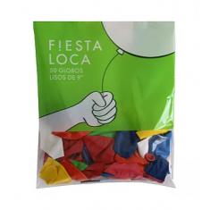 Globo 9 Fiesta X 50 Surtido - Promo +10 -5% Fiesta Loca