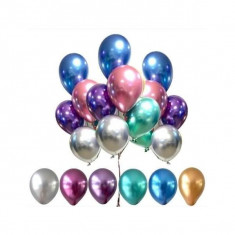 Chrome Multicolor 12´x 10 U.- Globo Metalico De Latex - Tuky