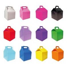Cajita Feliz Color Pleno- X 5 -rosa-roja-celeste-azul-verde Manzana-violeta -negra