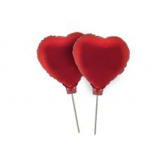 Myler 11 Corazon C/palito X 2 U. - Rojo/rosa - Ovni Ballons - Dilax