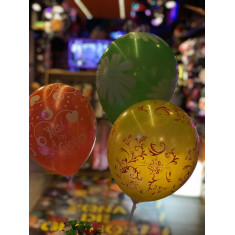 Globo Std.12 X100 Full Impreso Vs Motivos -flor/arabesco/corazon/lunares/its A Girls Liquidacion