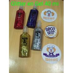 Glitter En Gel X U. -40 Ml-rojo-plata-dorado-violeta-