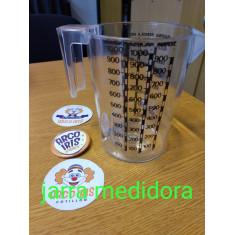 Jarra Medidora Cristal X U-liquido/harina/semola/fecula/arroz/azucar
