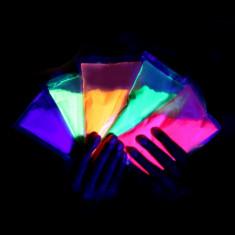 Polvo Holi Fluo 50 Gs. X U. - Disponble En: Naranja - Verde - Amarillo - Violeta - Fucsia - Turquesa - Coral - Todos En Fluo