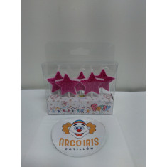 Vela Estrella X 5 Fucsia -blister-party-candles