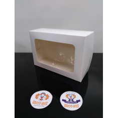 Caja Desayuno 17.5x26.5x9 X10 +10-5% - C/visor - Blanca Promo Por Cantidad
