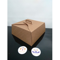 Caja Torta 31x31x13 X 10 +10-5% Blanca /madera Promo Por Cantidad
