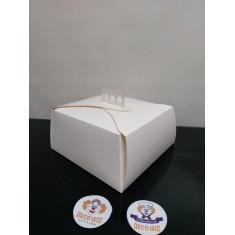 Caja Torta 26x26x13 X 10 +10-5% - Blanca Promo Por Cantidad
