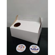 Caja Desayuno 24x27.5x10 X 10 +10-5% - C/circulo P/vaso Blanca Promo Por Cantidad