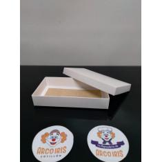 Caja Bombon Base+tapa 10x18x3 X 10 +10-5% - Blanca 245 Gr - Promo Por Cantidad