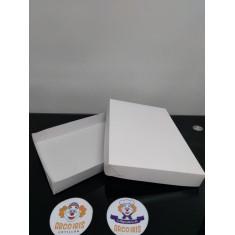 Caja Bombon Base+tapa 27.5x18x3.5 X 10 +10-5% - Blanca Promo Por Cantidad