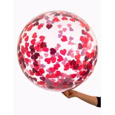 Burbuja Globo C/ Confeti Corazon X U Guir Decorativa--jupiter-