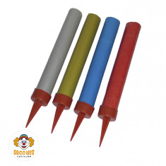 Bengala 9 Cm Lisa Color 10x4 Total 40 Unidades De 9cm.c/u - Fuegolandia  - Caja Blanca - Caja Madre 16x10x4u.