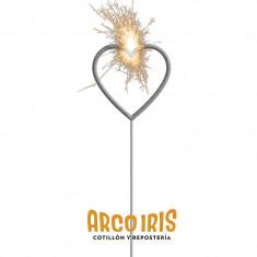 Velas Sparkles Corazon Rosa X U. +10-5% - Estrellita - Exhibidora Para Colgar