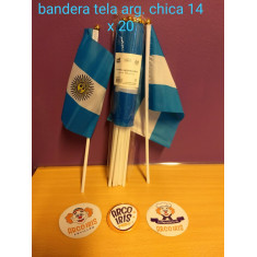 Bandera Tela Arg. Chica 14 X 20 Cm X 12                   Mundial -party Store-