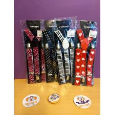 Tiradores Estampados X U Vs. Lunares/animal Print/fluo/fantasia/rayas    -suspenders-