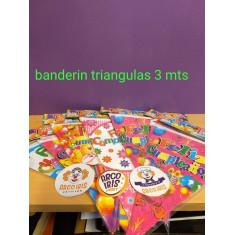 Banderin Triang. Feliz Cumpl. 3 Mts -party Flags-