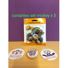 Cortante Set Mickey X 5 -cookie Cutter-