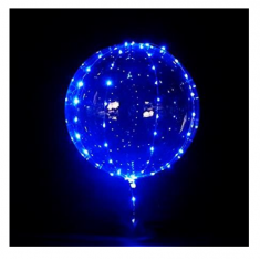 Burbuja Led Kit Globo Y Luces X U. -party Store- Azul - Blanca - Multicolor