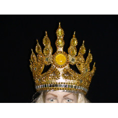 Corona Lujo Gde. Reina Media C/piedras