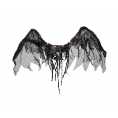 Ala Angel Negro Led X U 120 X 50 Cm -party Store