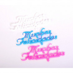 Frases Muchas Felicidades Blanco X 12 - Stasio