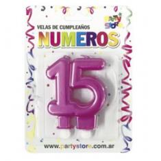 Velas Aniversario Perl.x U - 15-30-40-50-años -party Store-blister