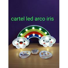 Cartel Led Arco Iris X U Nubes C/ Caritas