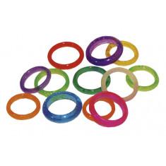 Anillos Cristal Colores X 36  -arco Iris