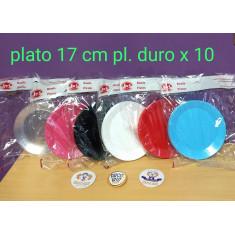 Plato 17 Cm Pl Duro X 10 U.-vs Colores- Boyano Monalli