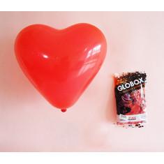 Forma Corazon Globox 9 Rojo X 25 Perlado