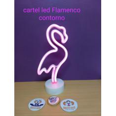 Cartel Led Flamenco Contorno