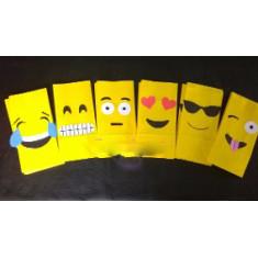 Emoji Bolsa Caramelera Papel  X 10 -
