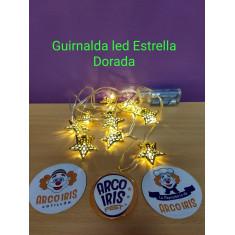 Guirnalda Led Estrella Dorada X  2 Mts -