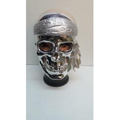 Mascara Calavera Metal Patinada Dor/plat. X U.