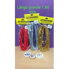 Latigo Grande 1.80 Mts -rojo-plateado-dorado--53838-53839