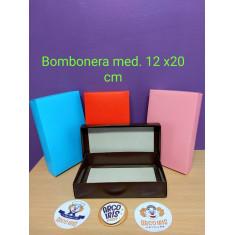 Bombonera Mediana 12 X 20 Cm-c/ Tapa Vs Colores