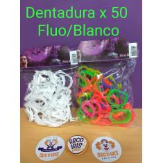 Dentadura Dracula X 50 Blanco/fluo -patrimar-
