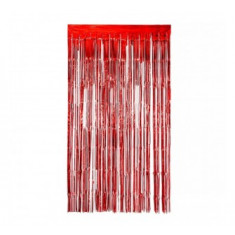 Guir Cortina Metal Roja X U  --2.2 M X 80 Cm--imagen-