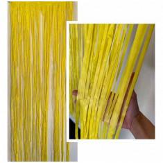 Guir Cortina Plast. Amarilla X U  --2.2 M X 80 Cm--imagen-