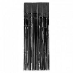 Guir Cortina Plast. Negra X U  --2.2 M X 80 Cm--imagen-