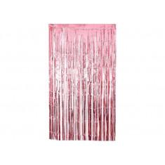 Guir Cortina Plast. Rosa X U  --2.2 M X 80 Cm--imagen-