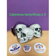 Calaveras Terrorificas X 3