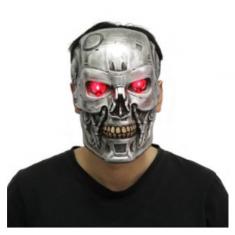Mascara Exterminador C/ Luz Party Store X U