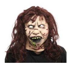 Latex Mascara Linda Exorcista Party Store X U