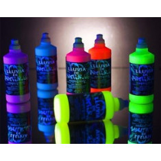 Pintura Ecologica X 6 - Oferta - 500 Cc Radha Splash - Liquido Fluo Para Festejar - Colores:  Fuc/nar/amar/ver/violeta/azul -