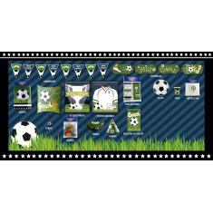 Futbol Banderin Triangular X 12