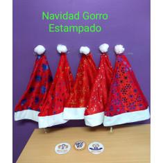 Navidad Gorro Estampado X 12. -