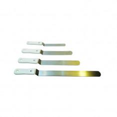 Espatula Doblada Ancha Acero Nº16 -cooper Mango Blanco-hoja De Acero Mide 5 X 16 Cm-