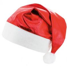 Navidad Gorro Tela Metal. Rojo X 12. -acetato-oro-plata-